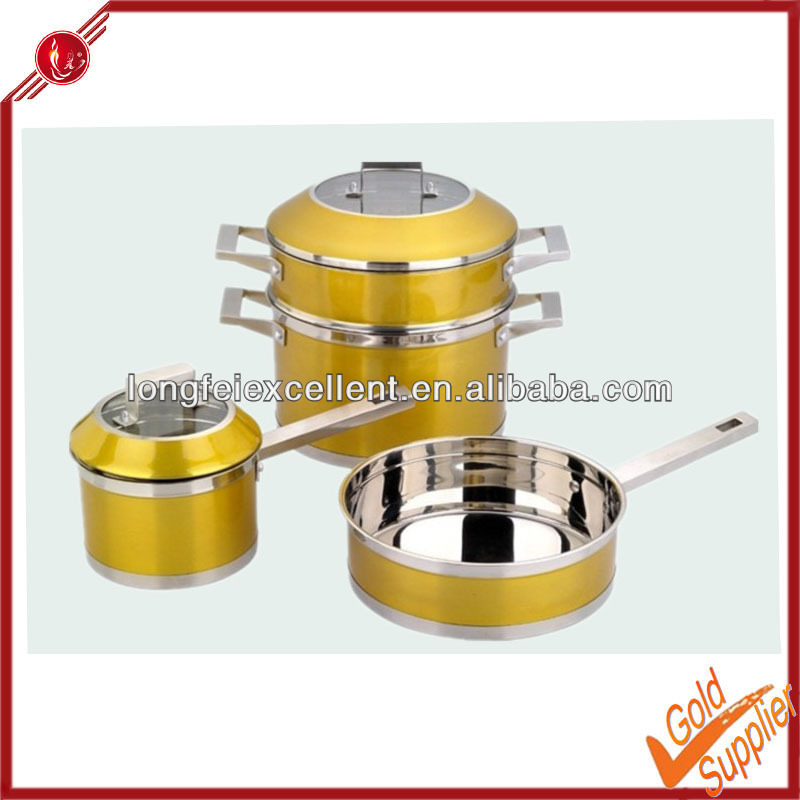 Stainless steel stone/non stick/japanese/italian technique cookware