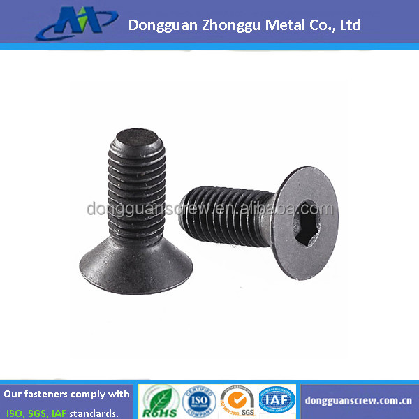 Class 12.9 Flat Socket Cap Screws DIN 7991 Alloy/DIN7991 Flat Head Countersunk Socket Bolt/