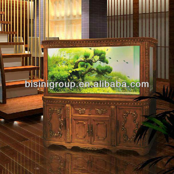 Bisini European Style Solid Wood Hand Carved Aquarium / Fish Tank Cabinet (BF09-41003)