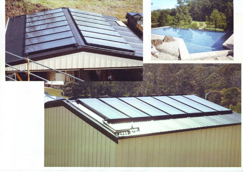 semi-rigid polymer black Low maintenance Solar pool Water Heater Panel