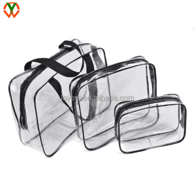 Travel toiletry women Transparent cosmetic bag organizer