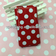 polka dots tpu soft rubber skin case for ipod touch 4