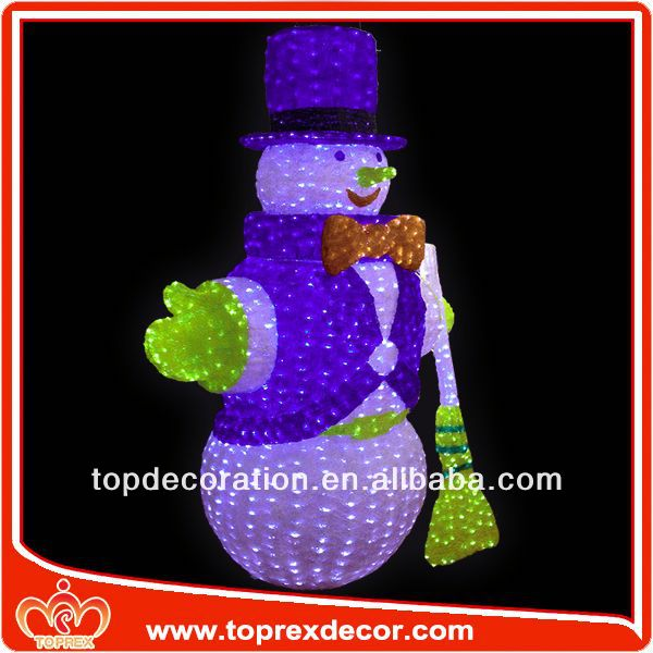 New Model snowman head christmas tree ornaments