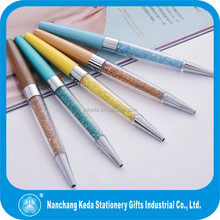 new design fashion design promotional crystal ball pen