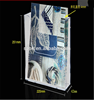 Professional custom clear acrylic wall mounted brochure holder