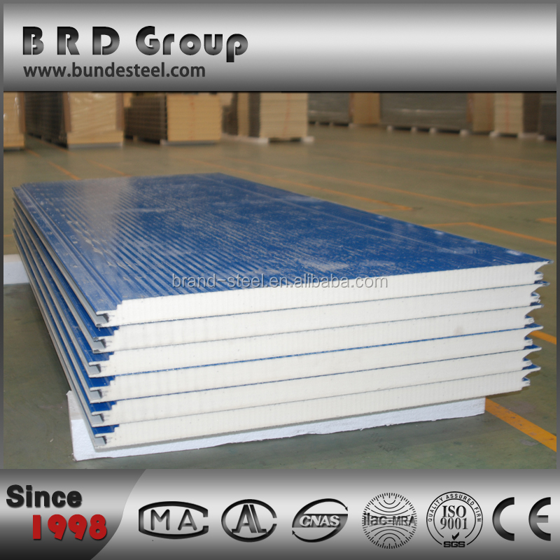 Polyurethane Sandwich Panel : Building material pu sandwich panel for house wall buy