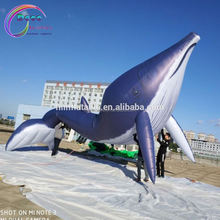 giant inflatable blue whale sea animal for advertising