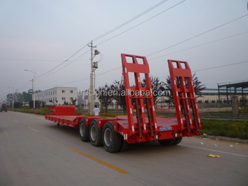 Low Bed Three Axle Semi-trailer for Sale