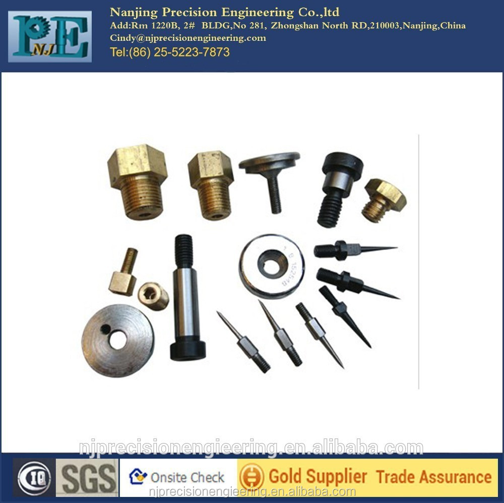 Various custom made metal screw bolt