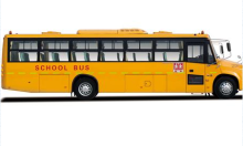 Yellow big nose school bus