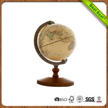 Good Quality Solild Rotating Wooden World Globe