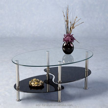 cheap oval glass top coffee table