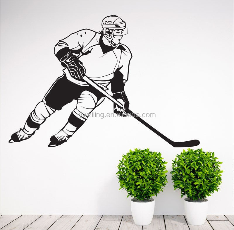 YA579 Removable Sports Hockey Player NHL Wall Sticker Vinyl Art Decoration Decal Vinyl Mural Whiteboard Wall Paper