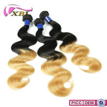 Professional Dyed Virgin Peruvian Hair Two Tone Color Hair Extensions