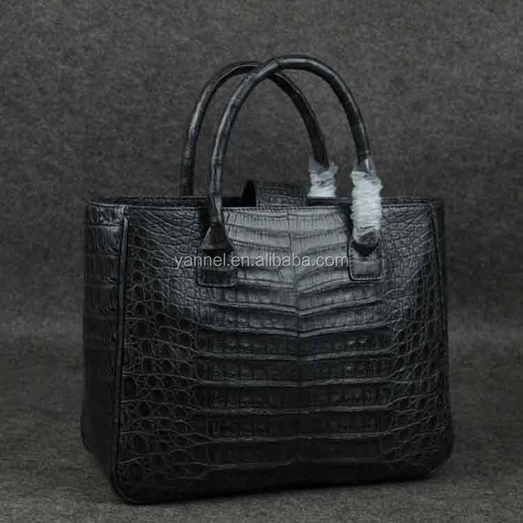 crocodile handbag_crocodile bags_grey#alligator bag#exotic bag#UAE fashion#european style bags