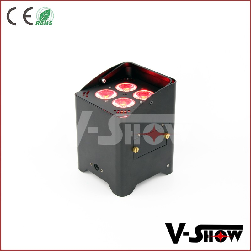 IR remote wireless dmx led par battery powered uplight 4x15w rgbwa battery powered led stage lighting with flight case