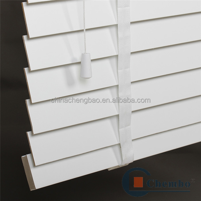 Hotsale Ladder Tape Design White Faux Wood Window Blinds