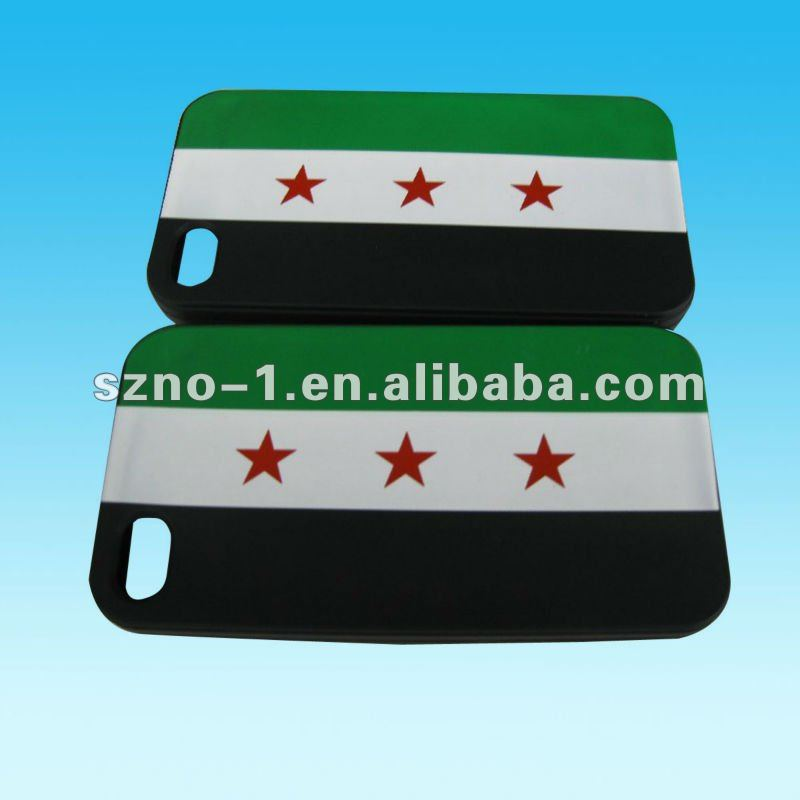 New Free Syria phone case for I Phone 4G/ 4S (silicone material)