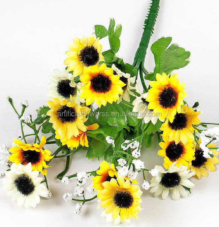 2015 Hot sell outdoor artificial plastic daisy flower for home decoration