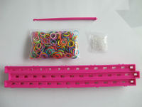 China loom bands 600PCS cra-z-loom Bracelet colorful maker