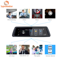 Factory Price 4G Sim Card Wifi Dash Cam 10 Inch Touch Screen Dual Lens Car Camera With GPS Navigation And ADAS
