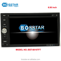 Universal OEM double din 6.5inch touch screen wince 6.0 car auto radio dvd gps navigation with bluetooth