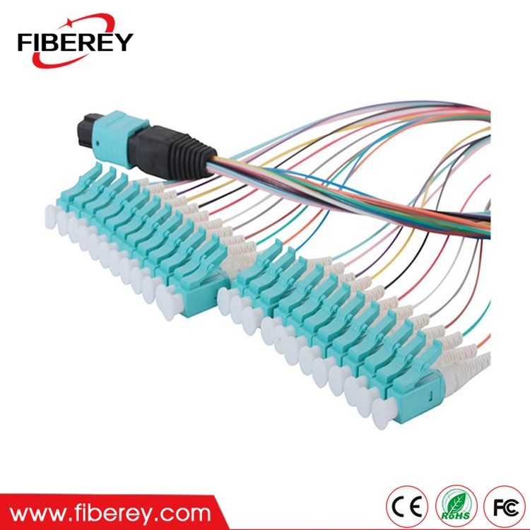 MPO to LC Connector 12 Fiber Singlemode Multimode Harness Fiber Optic Patch Cord