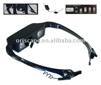 Video glasses for iPod/ Fashion Design watchTV glass adapt for ipod
