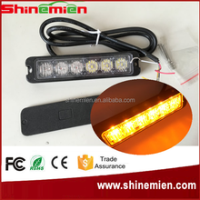 TIR 6W LED Mini Warning Light Head 6W LED EMS EMT Police Emergency Vehicle Grille Grill Warning Light Head