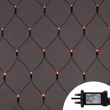 Christmas Fairy Lights 1.8m <strong>x</strong> 1.2m 120 LED Net Fairy Lights Red Indoor Outdoor Christmas Tree String Lights