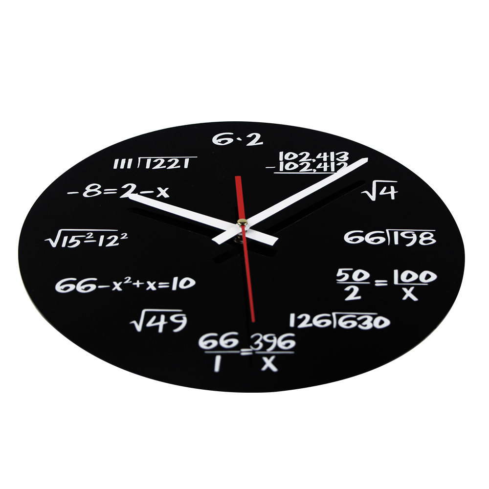 modern style acrylic wall clock round shape digital clock (T5175)
