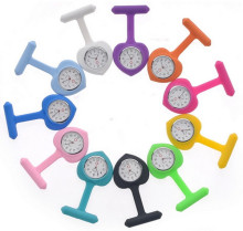 "CUSTOM 3 3/8"" x 1 3/16"" 1 Silkscreen Print SiliconeAlloy Round Shape Nurse WatchSILICONE NURSE WATCH WITH YOUR CUSTOM LOGO"
