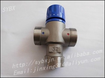 "Alibaba China Supplier Brass 1-1/4"" DN32 Solar Energy Thermostatic Mixing Valve"