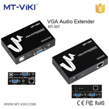 MT-50T audio/video vga extender best sale 50m vga extender one road RS232 vga extender