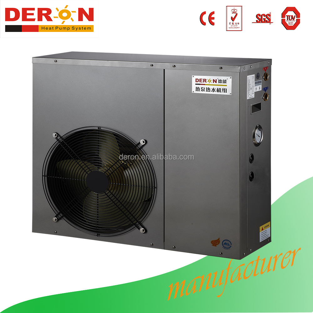 Mini Deron high efficiency CE certified air source heat pump instant tankless hot water for canada