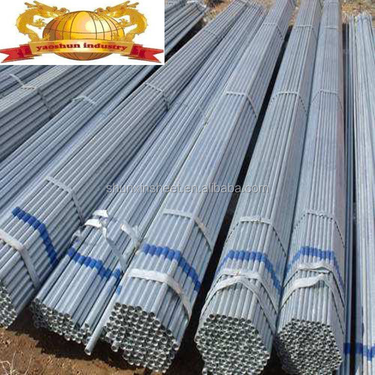 A106 GR.B ZINC GALVANIZED ROUND STEEL PIPE FOR BUILDING MATERIAL