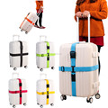 Custom lockable cross luggage strap with tag