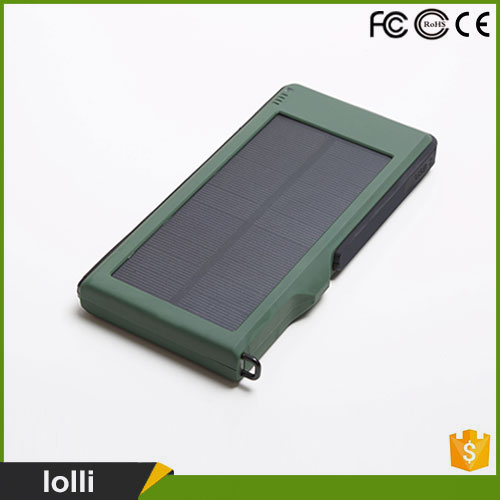 China wholesale slim waterproof 12000 solar power bank charger