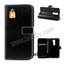 Crazy Horse Pattern Ultra Thin Stand Wallet Magnetic Flip Leather Case Cover for LG Optimus G2 D801 D802 D803 with Card Holder