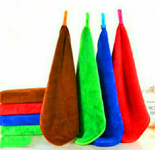50*50cm Surplus Stock Lots microfiber coral fleece towel