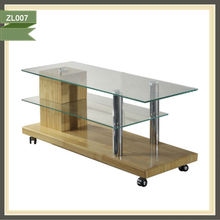 WOODEN FRAME GLASS TOP DINING TABLE