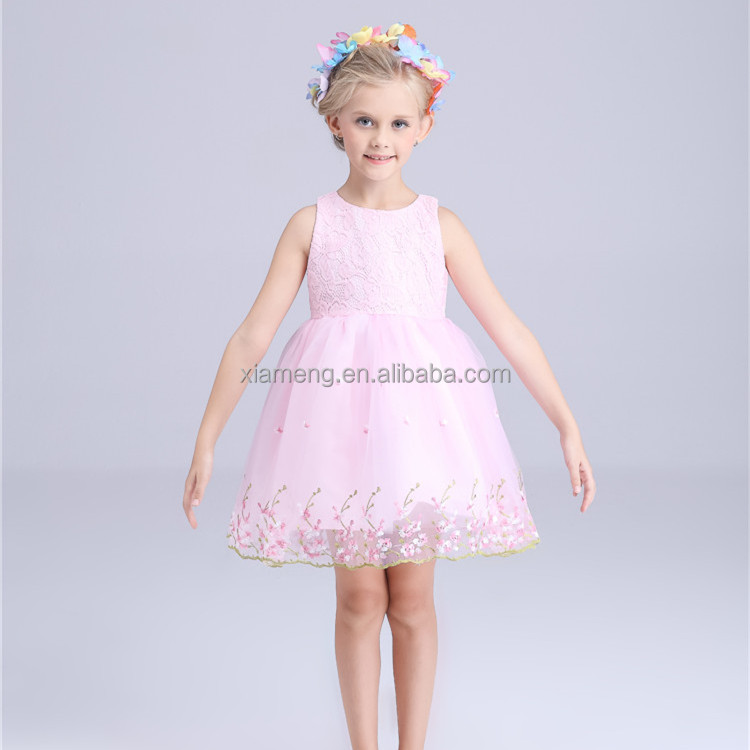 China factory price OEM Service summer birthday flower dress 1 year old girl