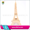 Educational diy wooden 3d plane toy for children puzzle model aircraft Eiffel tower