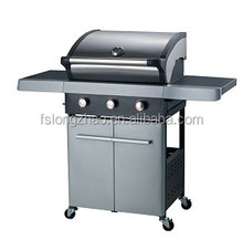 CE Approval 3 burners gas grill electric barbecue grill with lava rock