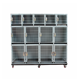 large steel iron commercial metal dog cage singapore sale