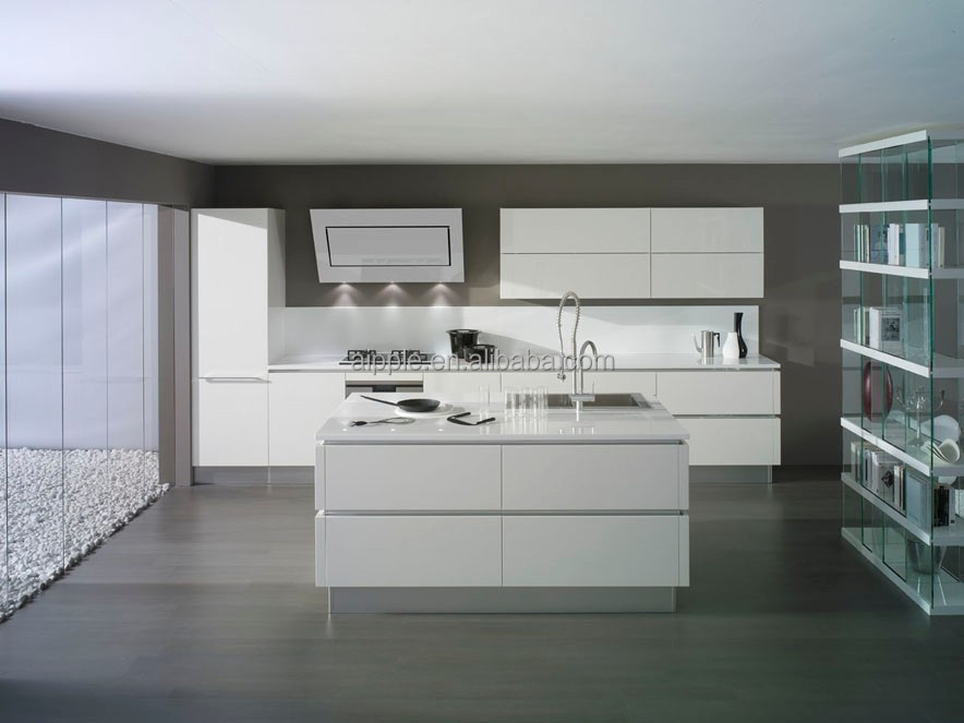 Pure white kitchen cabinet PKC-115