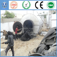 Gas and oil burning system Xinda New waste tire recycling to oil machine