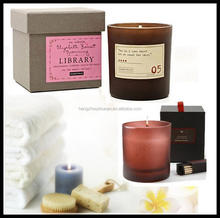 Wholesale scented wax candles in a glass jar