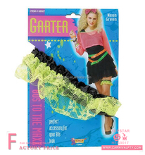 sexy stocking pictures of women in garter belt 80s Neon Lace Garter A
