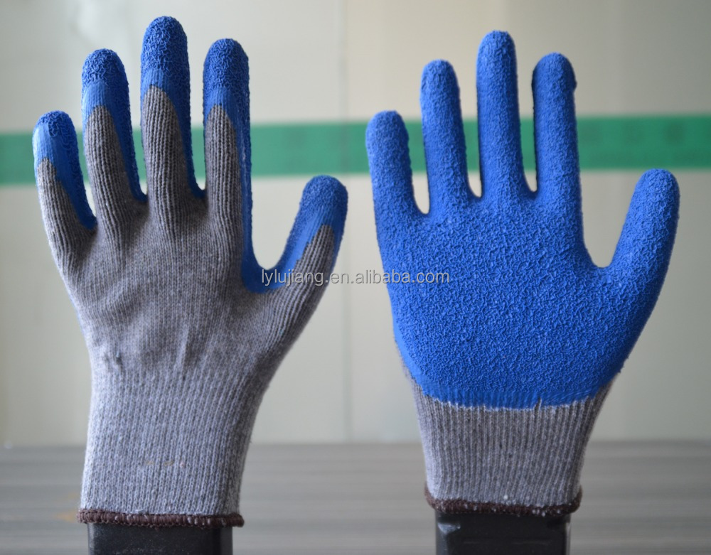 Blue latex coated palm of good quality and cheap price for safety